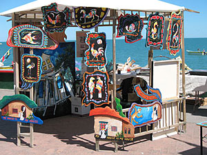 San Felipe Sidewalk Art Display