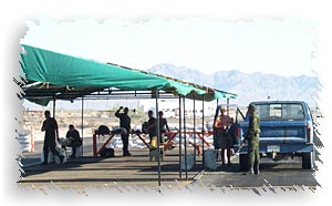 San Felipe Checkpoint guards at work.